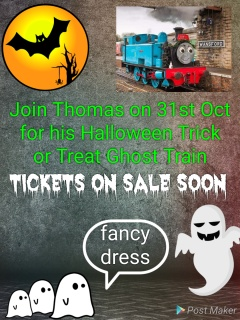 Thomas Halloween Trick or Treat Ghost Train